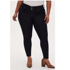 Torrid Women's Jegging Super Stretch Dark Wash Jeans Size 16